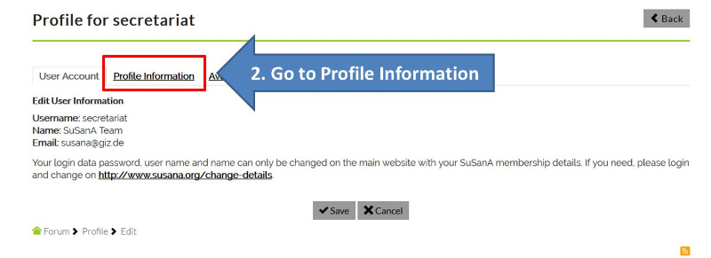 How to modify your forum profile and add a signature