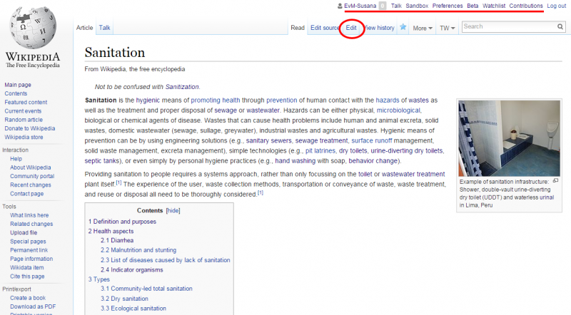 How can I edit a Wikipedia article with or without having a